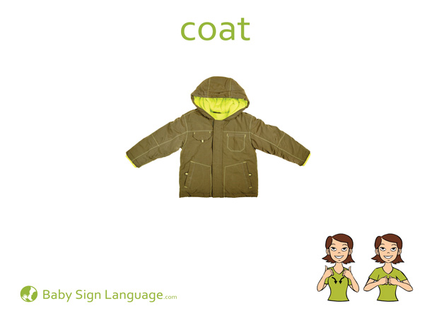 Coat Baby Sign Language Flash card