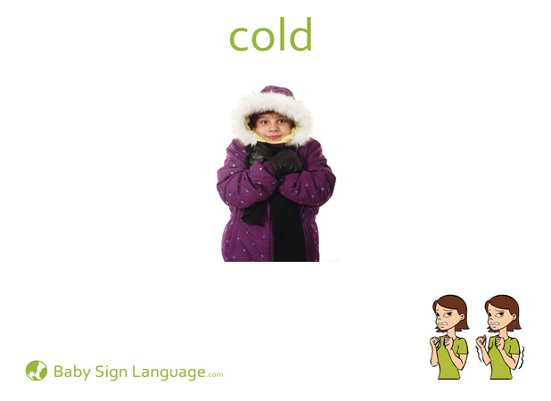 Cold Baby Sign Language Flash card