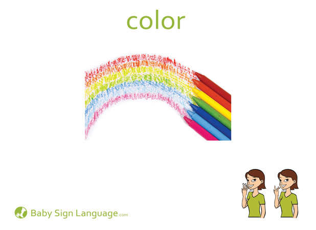 photo relating to Sign Language Flash Cards Printable called Colour