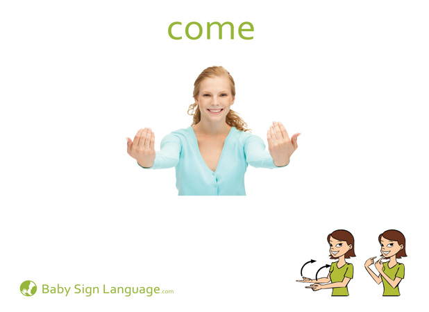 Come Baby Sign Language Flash card