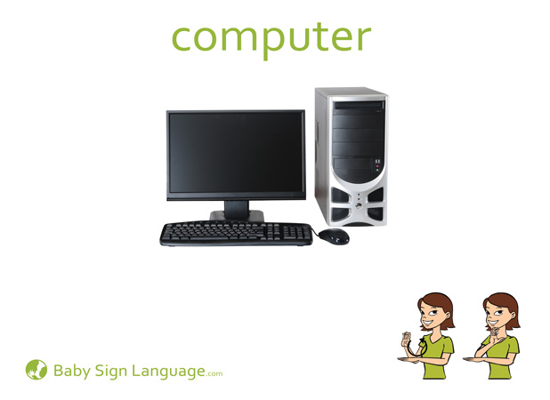 Computer Baby Sign Language Flash card
