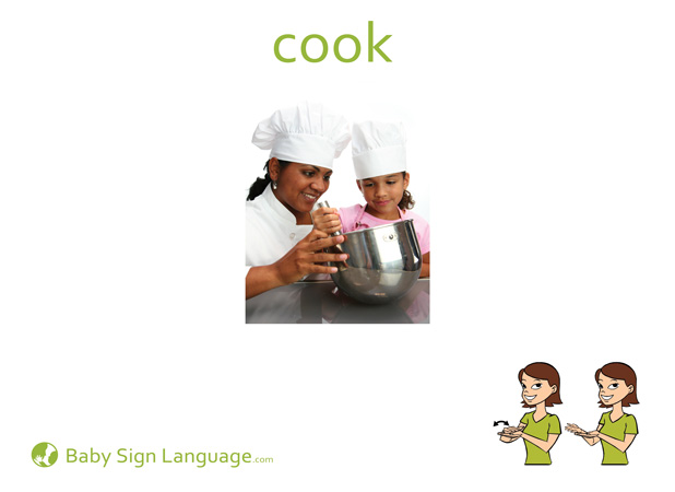 Cook Baby Sign Language Flash card