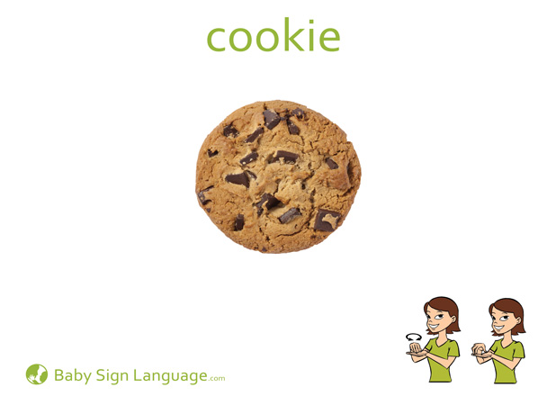 Cookie Baby Sign Language Flash card