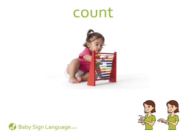 Count Baby Sign Language Flash card