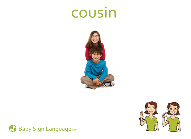 Cousin Baby Sign Language Flash card