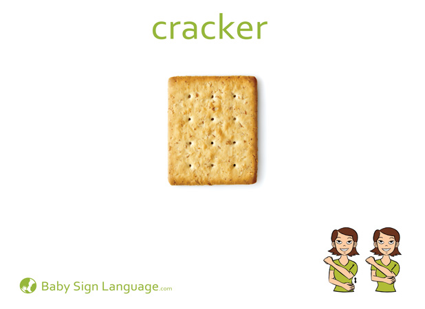 Cracker Baby Sign Language Flash card