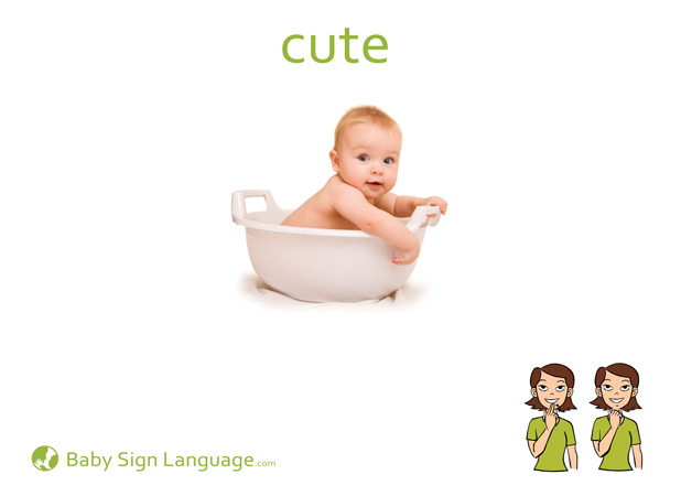 Cute Baby Sign Language Flash card