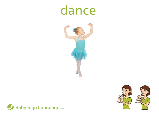Dance Baby Sign Language Flash card