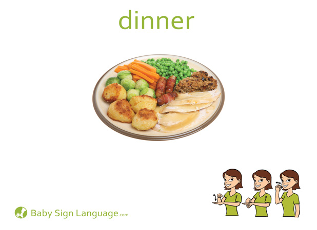 Dinner Baby Sign Language Flash card