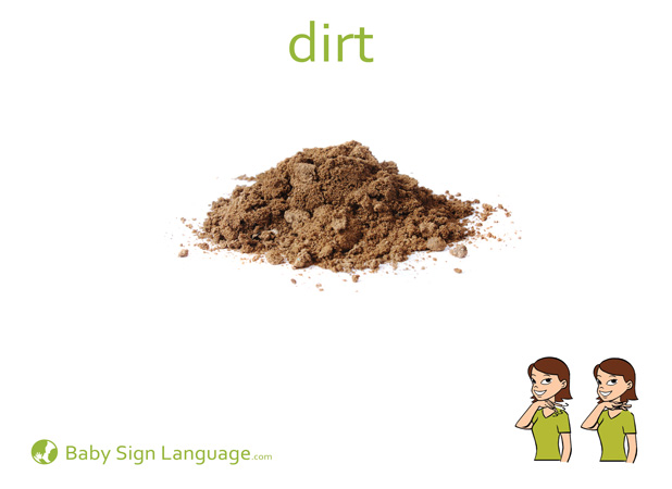 Dirt Baby Sign Language Flash card