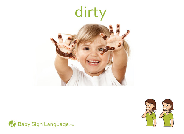 Dirty Baby Sign Language Flash card