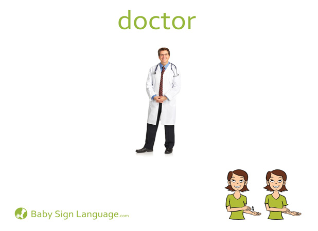 Doctor Baby Sign Language Flash card