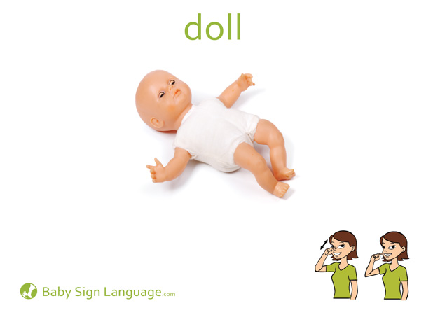 Doll Baby Sign Language Flash card
