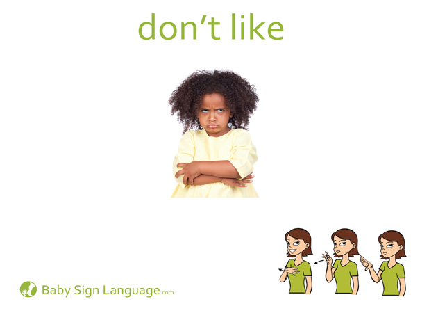 Don't Like Baby Sign Language Flash card