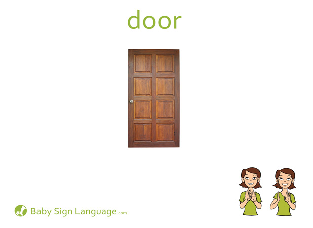 Door Baby Sign Language Flash card