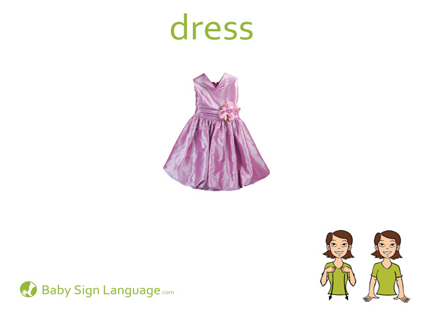 Dress Baby Sign Language Flash card