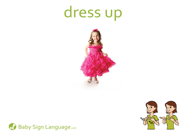 Dress Up Baby Sign Language Flash card