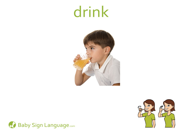 Drink Baby Sign Language Flash card