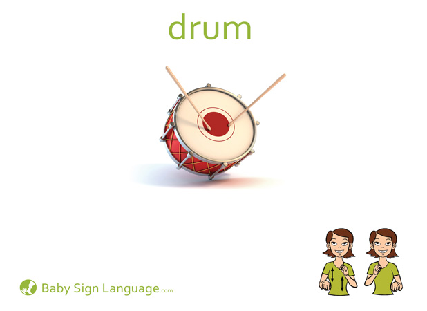 Drum Baby Sign Language Flash card