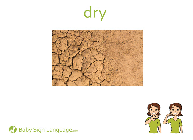 Dry Baby Sign Language Flash card
