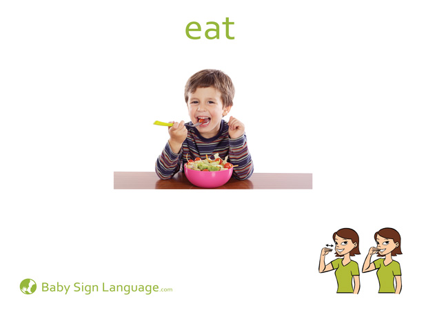 Eat Baby Sign Language Flash card