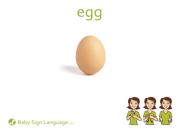 Egg Baby Sign Language Flash card
