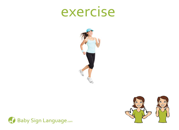 Exercise Baby Sign Language Flash card