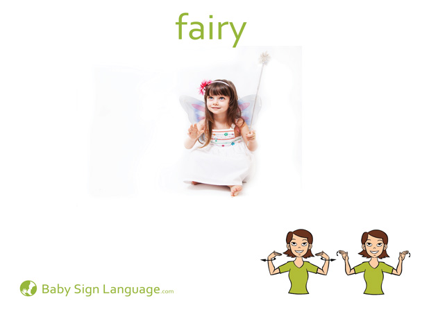 Fairy Baby Sign Language Flash card