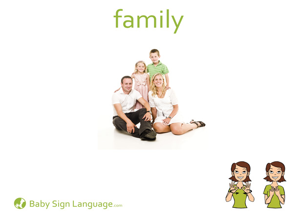 Family Baby Sign Language Flash card