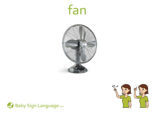 Fan Baby Sign Language Flash card