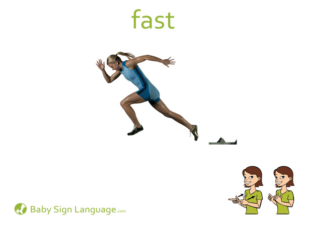 Fast Baby Sign Language Flash card