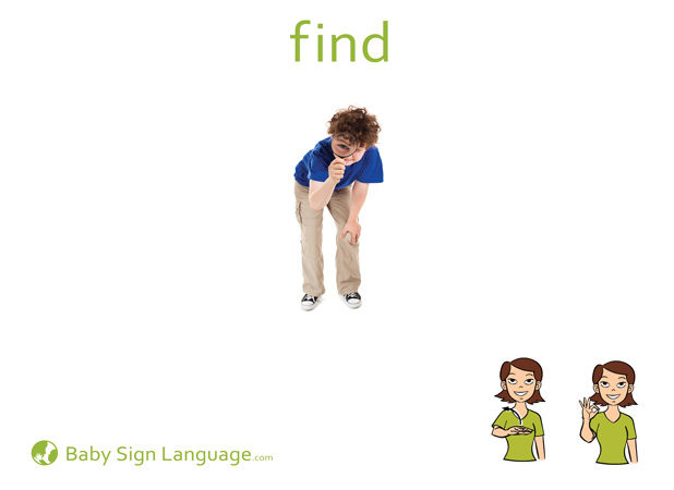 Find Baby Sign Language Flash card