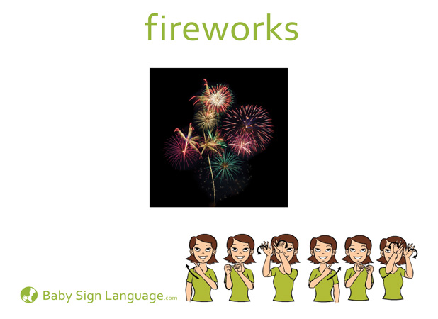 Fireworks Baby Sign Language Flash card