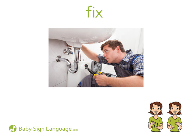 Fix Baby Sign Language Flash card