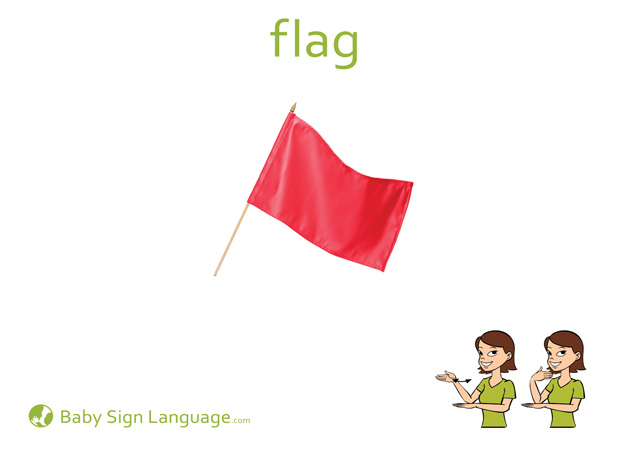 Flag Baby Sign Language Flash card