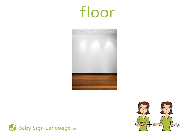 Floor Baby Sign Language Flash card