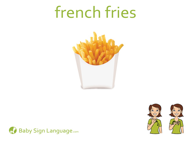 French Fries Baby Sign Language Flash card