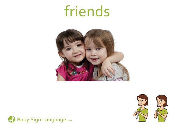 Friend Baby Sign Language Flash card