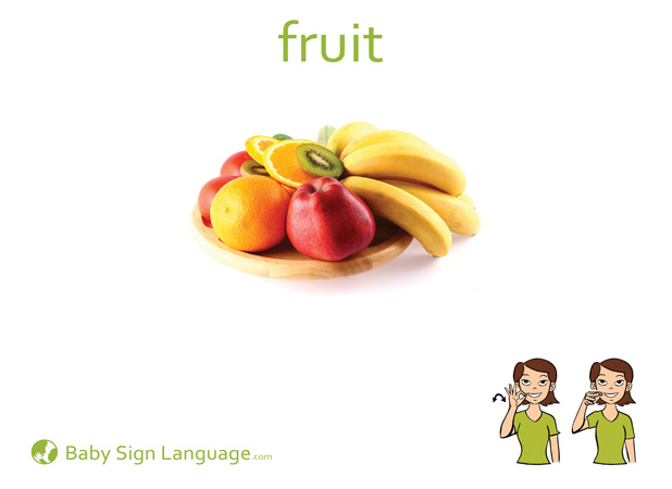 Fruit Baby Sign Language Flash card