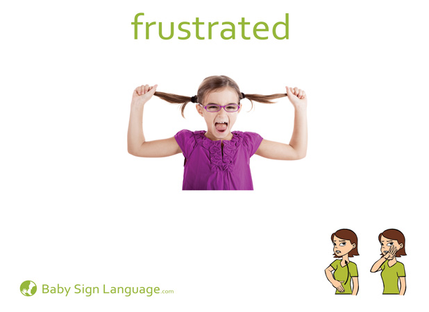 Frustrated Baby Sign Language Flash card