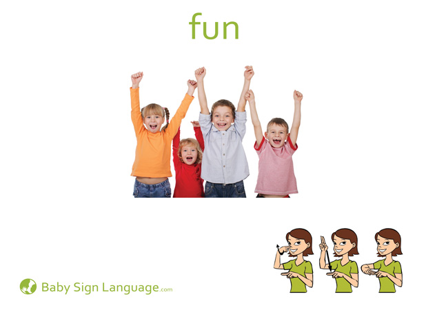 Fun Baby Sign Language Flash card