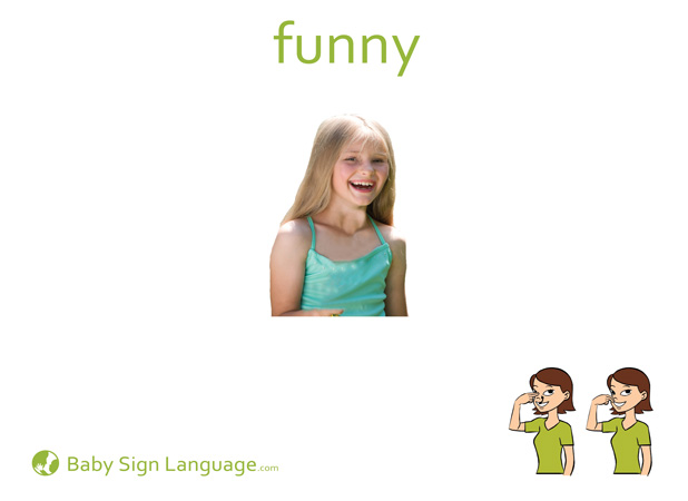 Funny Baby Sign Language Flash card