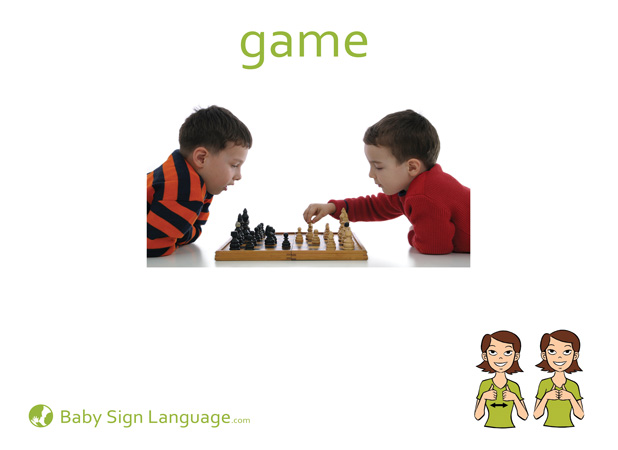 Game Baby Sign Language Flash card
