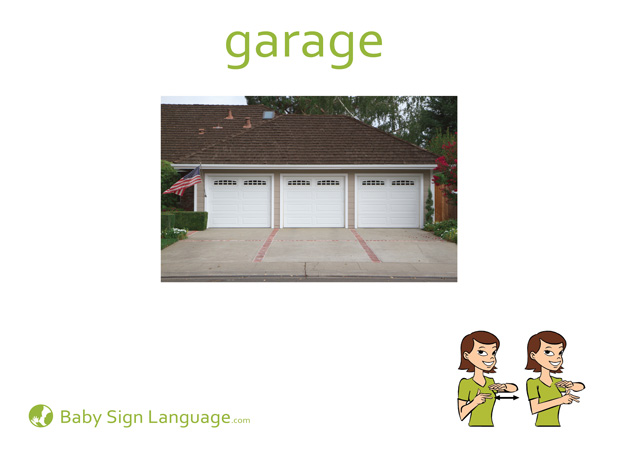 Garage Baby Sign Language Flash card