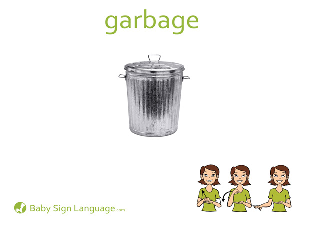Garbage Baby Sign Language Flash card