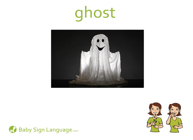 Ghost Baby Sign Language Flash card