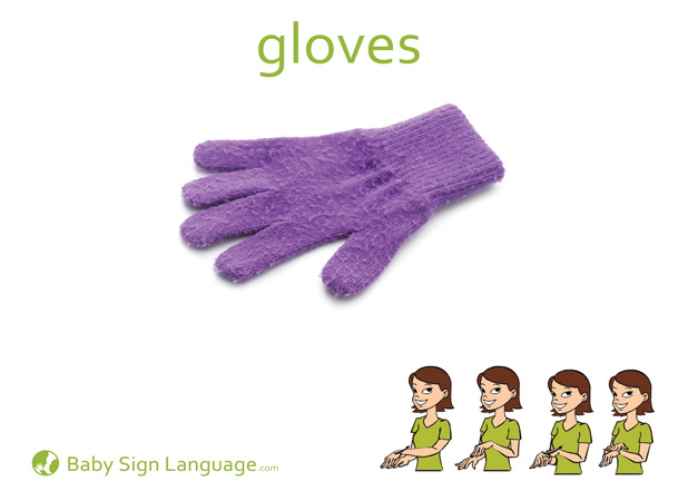 Gloves Baby Sign Language Flash card
