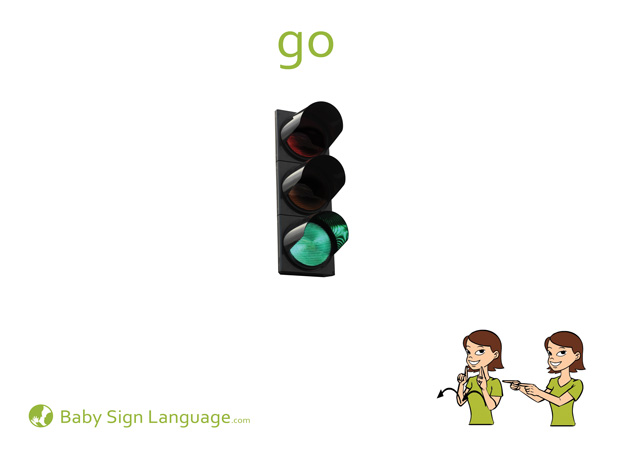 Go Baby Sign Language Flash card