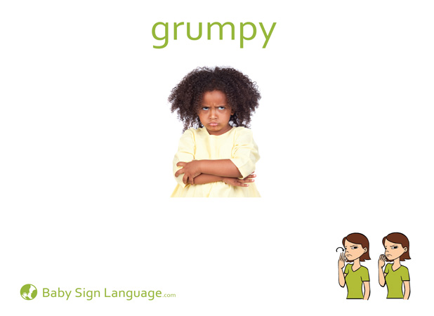 Grumpy Baby Sign Language Flash card