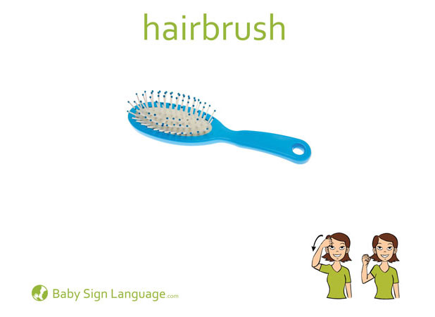Hairbrush Baby Sign Language Flash card